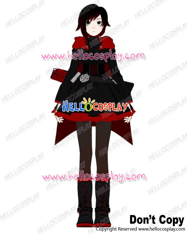 Rwby Cosplay Red Trailer Ruby Rose Uniform Costume