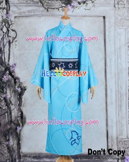 Vocaloid 2 Cosplay Project DIVA F Kaito Costume Kimono Bathrobe