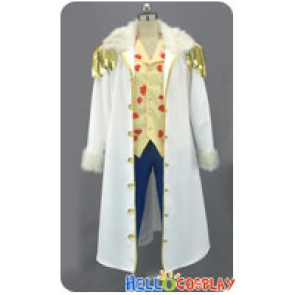 One Piece Cosplay Tashigi 2 Years Later Costume Fur Collar White Coat