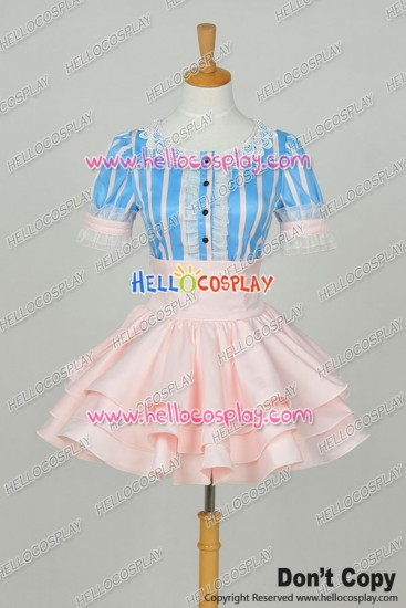 Super Sonico Cosplay Sonico Wavy Dress Costume