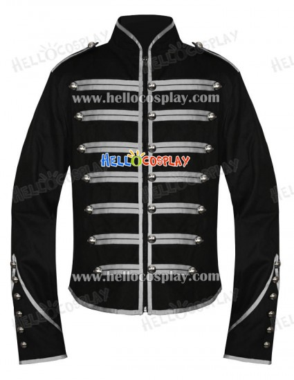 Emo Silver Military Parade My Chemical Romance Jacket