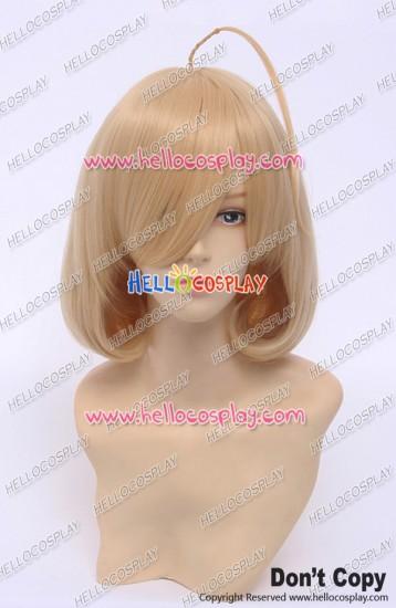 Riddle Story Of Devil Cosplay Nio Hashiri Wig Nio Kuzunoha Curly Golden Yellow