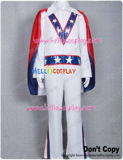 Motorcycle Daredevil Evel Knievel Cosplay Costume Cape Red