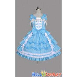 Sweet Lolita Gothic Punk Jumper Skirt Blue Dress