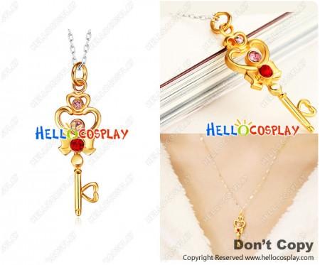 Sailor Moon Cosplay Chibiusa Timespace Key Necklace