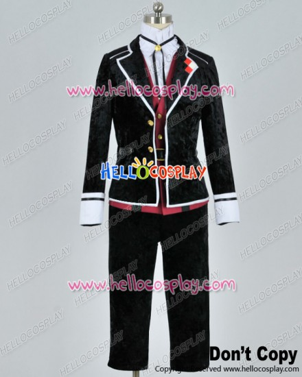 Diabolik Lovers Cosplay Kanato Sakamaki Uniform Costume Silk Velvet Ver