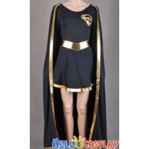Superman Supergirl Jumpsuit Cosplay Costume Golden