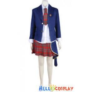 Katekyo Hitman Reborn Cosplay Haru Miura School Uniform