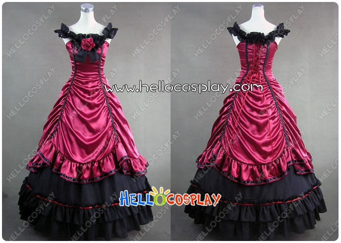 Southern Belle Lolita Ball Gown Red Wedding Dress