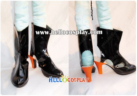 Macross Frontier Cosplay Sheryl Nome Black Short Boots