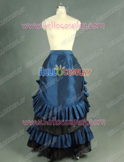 Victorian Lolita Edwardian French Bustle Skirt Gothic Lolita Dress