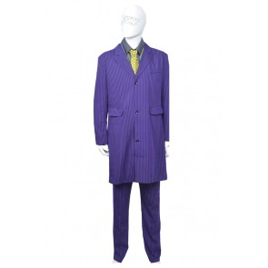 Batman The Joker Cosplay Costume Stripe Suit Full Set