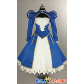 Fate Stay Night Cosplay Saber Costume Blue