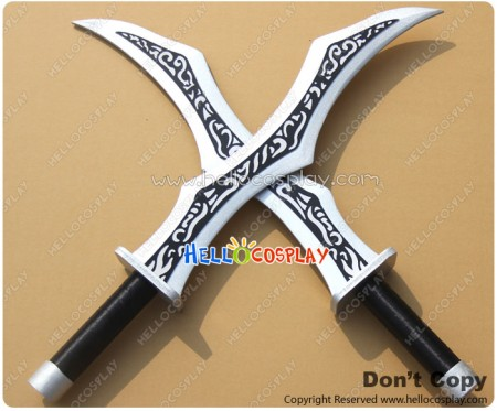 League Of Legends LOL Cosplay Katerina Double Broadswords Weapon