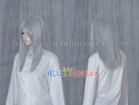 Grey 50cm Cosplay Straight Wig