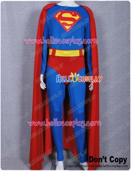 Superman Clark Kent Jumpsuit Cosplay Costume