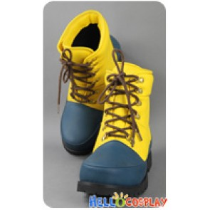 Final Fantasy X 10 Cosplay Tidus Yellow Dark Green Shoes