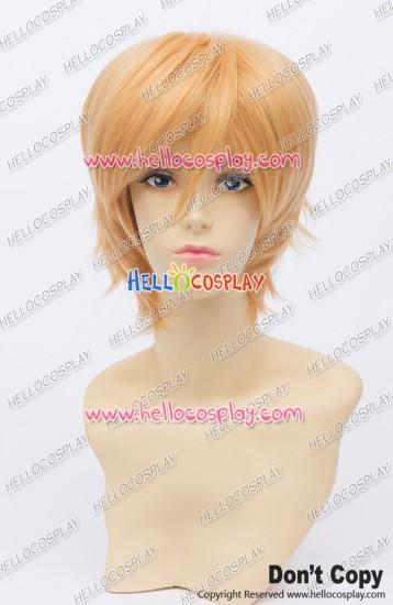 Byakuya Togami Tatara Totsuka Cosplay Wig 30CM Golden Yellow Ordinary Universal Short Layered