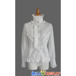 Sweet Lolita Classical Gothic Punk Luxury White Blouse