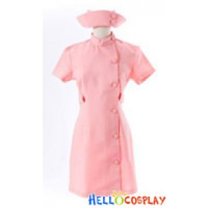 Suzumiya Haruhi Cosplay Mikuru Asahina Pink Nurse Dress Costume