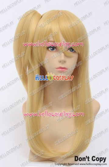 Fairy Tail Cosplay Lucy Heartfilia Wig Oblique Ponytail Golden Yellow