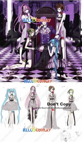 Vocaloid 2 Cosplay Megpoid Gumi White Dress Costume