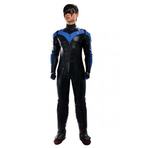 Batman Arkham City Nightwing Cosplay Costume Jumpsuit