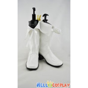 AKB0048 Cosplay Shoes White Boots