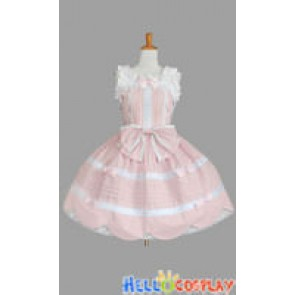 Sweet Lolita Jumper Skirt Cute Pale Pink Dress