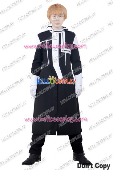 D Gray Man Cosplay Allen Walker Costume Black White Uniform