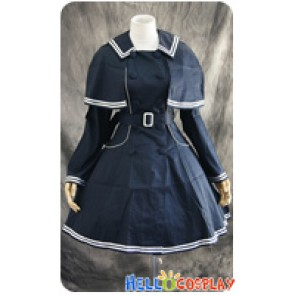 Lolita Gothic Dress Navy Cosplay Costume Classical