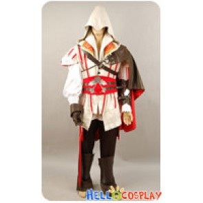 Assassins Creed 2 II Cosplay Ezio Costume Outfit