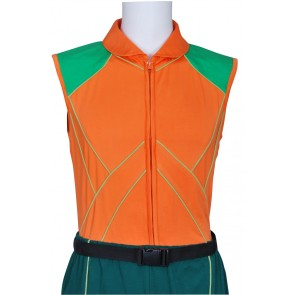 Smallville Aquaman Cosplay Orange Vest Uniform Costume