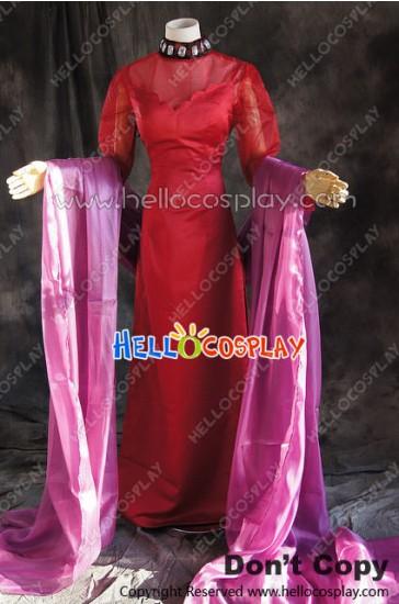 Sailor Moon Cosplay Black Lady Chibiusa Red Dress Costume