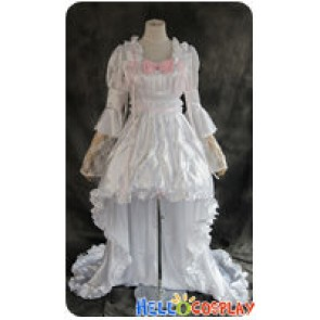 Chobits Cosplay Chi White Lolita Dress Costume