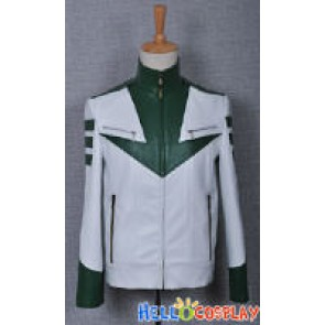 Space Battleship Yamato Costume Green Leather Jacket