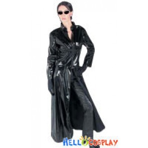 The Matrix Cosplay Trinity Adults Costume Trench Coat