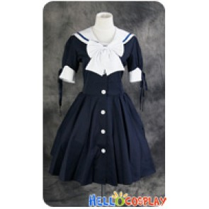 Gothic Lolita Navy Sailor Dress Cosplay Costume