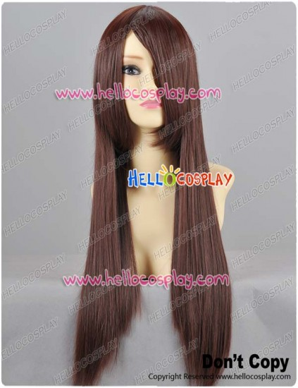 Brown Straight Cosplay Wig 70cm