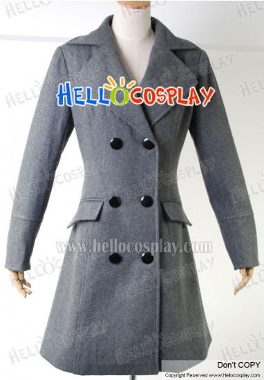 Harry Potter Hermione Granger Cosplay Costume Grey Coat