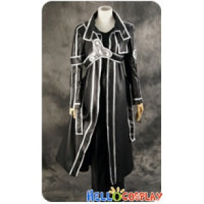 Sword Art Online Cosplay Kirito Kazuto Kirigaya Leather Costume