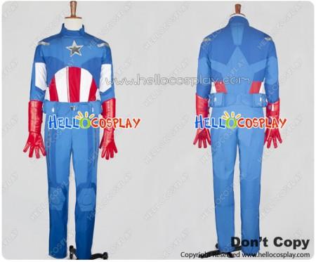 The Avengers Captain America Cosplay Costume Uniform