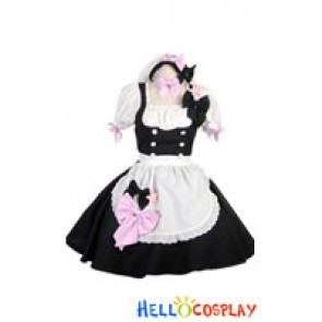 Cute Princess Sleeves Bow Knots Stars Cosplay Maid Dress Costume