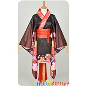 Super Sonico Cosplay Sonico Summer Worship Kimono Costume