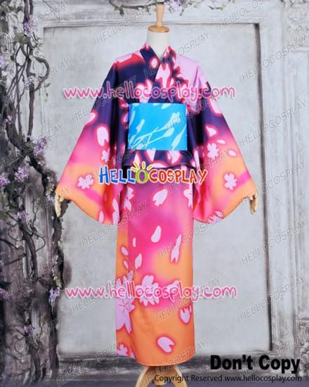 Vocaloid 2 Project DIVA F Cosplay Luka Dress Costume Kimono Bathrobe