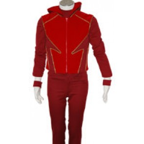 Smallville Flash Impulse Cosplay Red Suit Uniform Costume