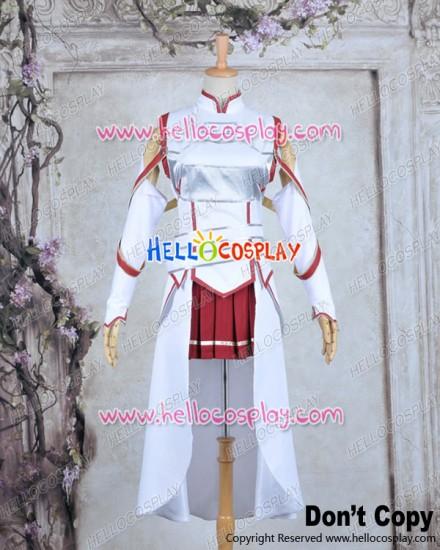 Sword Art Online Cosplay Asuna Yuuki Combat Uniform Costume
