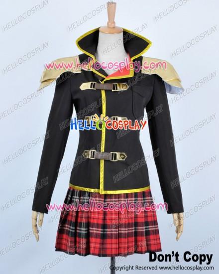 Final Fantasy Type 0 Cosplay Whip Wielder Seven Sebun Costume