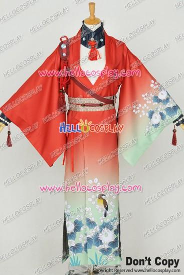 Dramatical Murder DMMD Cosplay Koujaku Costume Red Kimono Full Set