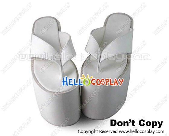 b04f765fddad2 Punk Lolita Shoes Daily White High Platform Flip-Flops